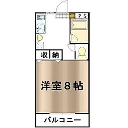 中森マンション[311号室]の間取り