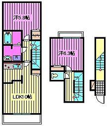 クラリスヴィラ 大成[2階]の間取り