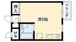 ルベラージュ甲子園[207号室]の間取り
