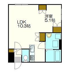 北海道札幌市厚別区厚別中央三条2丁目の賃貸マンションの間取り