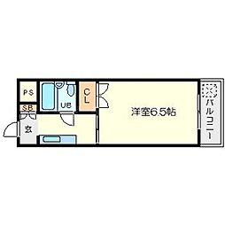 ウエストMYG[1階]の間取り