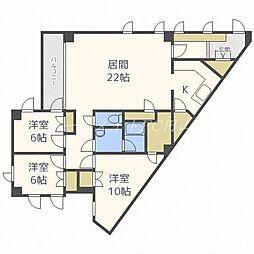 北海道札幌市中央区宮の森二条7丁目の賃貸マンションの間取り