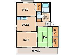 シャーメゾン山崎[1階]の間取り