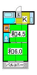 植村ハイツ[2階]の間取り