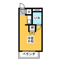 植田パークハイツ[6階]の間取り