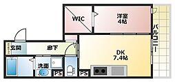 兵庫県明石市魚住町錦が丘3丁目の賃貸アパートの間取り