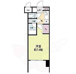 Osaka Metro御堂筋線 東三国駅 徒歩7分の賃貸マンション 13階1Kの間取り