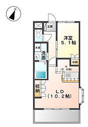 愛知県名古屋市西区円明町の賃貸マンションの間取り