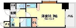 ラクレール[4階]の間取り
