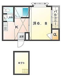 メゾン・アビニヨン[3階]の間取り