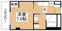 岡山県岡山市北区神田町2丁目の賃貸マンションの間取り
