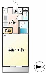 コーポラス坂井[407号室]の間取り