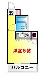 シャローム東中野[305号室号室]の間取り