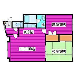 北海道札幌市東区北四十六条東2丁目の賃貸アパートの間取り