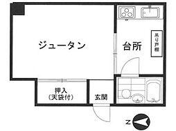 第7角田ビル[4階]の間取り