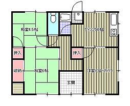 [一戸建] 愛媛県新居浜市田所町 の賃貸【/】の間取り