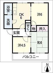 サンライズフジ(BCD)[2階]の間取り