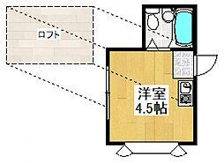 ベルハイム東大和[1階]の間取り