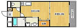 ガーデンヒルズ1[2階]の間取り