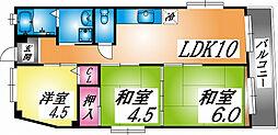 兵庫県神戸市灘区曽和町2丁目の賃貸マンションの間取り