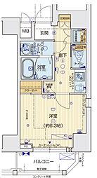 ララプレイス京町堀プロムナード 7階1Kの間取り