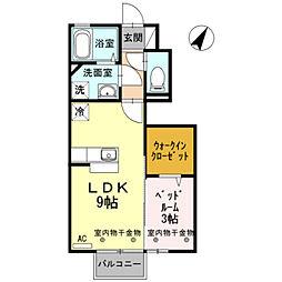 D−room新庄[105号室]の間取り