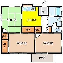 [一戸建] 長野県塩尻市大字広丘高出 の賃貸【/】の間取り