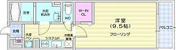 リブリ・小松島 3階1Kの間取り