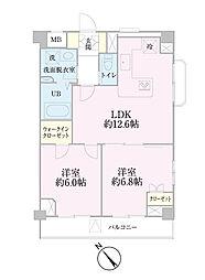 中新井サンライトマンション[308号室]の間取り