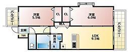 キラクマンション[4階]の間取り