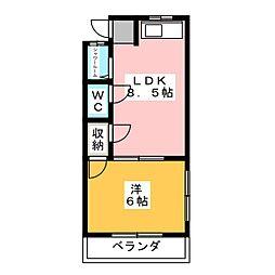 コーポすずもと 東棟[1階]の間取り