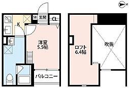 River Residence Hanazono[2階]の間取り