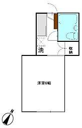 東京都三鷹市大沢3丁目の賃貸アパートの間取り