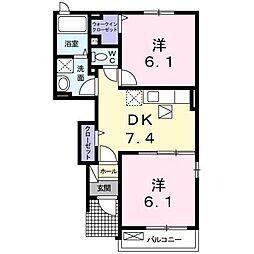 プロムナードさくら2番館[1階]の間取り