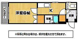福岡県北九州市八幡西区丸尾町の賃貸マンションの間取り