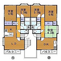 NWS1[2階]の間取り