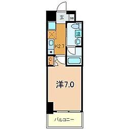 パウゼ東天満[7階]の間取り