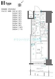 ZOOM横浜関内〜ズーム〜 10階1Kの間取り