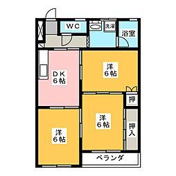 寿第3ビル[2階]の間取り