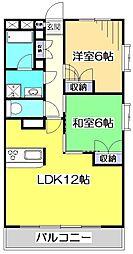 第3ゼルコバマンション[1階]の間取り
