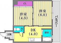 エルパラッツォ新神戸[305号室]の間取り