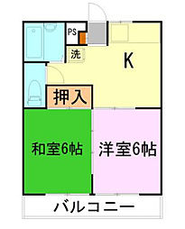 アゼリア富士見A棟[2階]の間取り