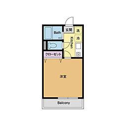 神奈川県平塚市北金目1丁目の賃貸アパートの間取り