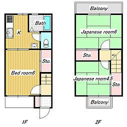 [テラスハウス] 千葉県市川市宮久保 の賃貸【/】の間取り