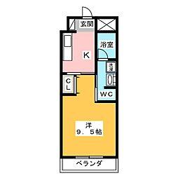 愛知県名古屋市天白区元八事2丁目の賃貸マンションの間取り