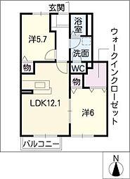 コリーヌSS II[1階]の間取り