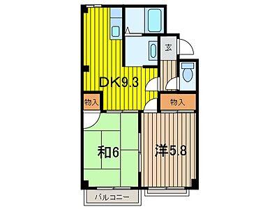 間取り,2DK,面積45.8m2,賃料7.0万円,JR埼京線 武蔵浦和駅 徒歩7分,JR埼京線 中浦和駅 徒歩7分,埼玉県さいたま市南区別所5丁目
