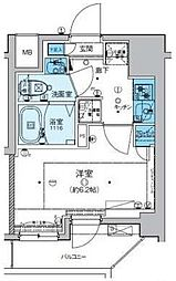 リヴシティ横濱新川町弐番館 5階1Kの間取り
