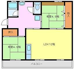 ヒヤリホーム[4階]の間取り
