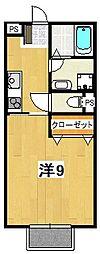 キャノンフォート成沢[206号室]の間取り